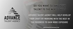 Advance Talent Agency Web Banner