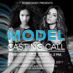 Model Casting Call Flyer
