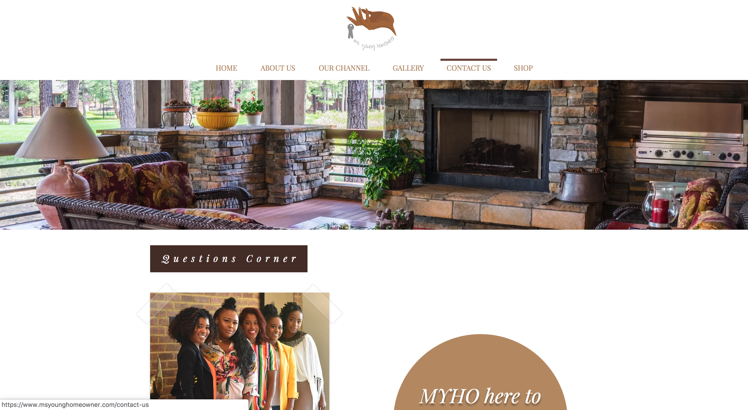Ms. Young Homeowner Website