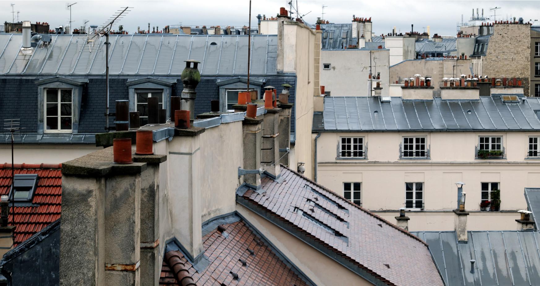 Les toits de Paris depuis la terrasse du CRI - vous êtes enfin arrivés au (à?) bout de la série!