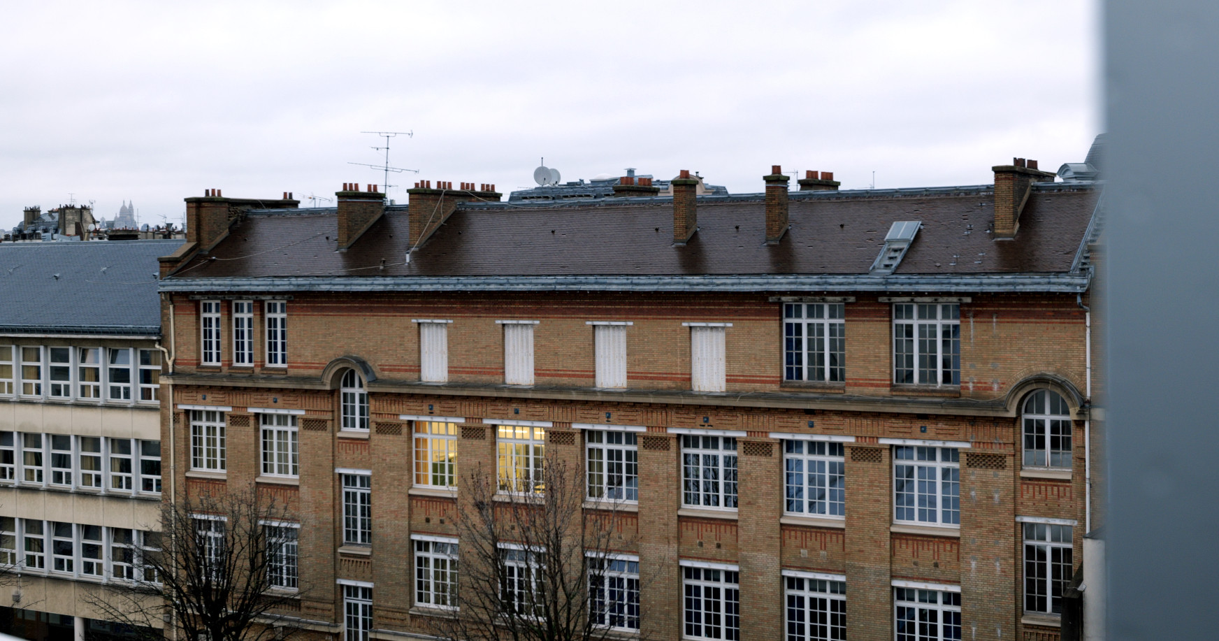 Les toits de Paris depuis la terrasse du CRI