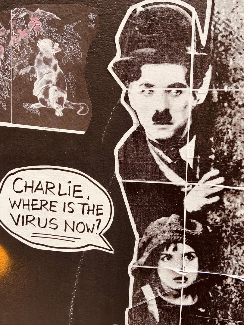 Une petite oeuvre de street-art par temps de covid-19