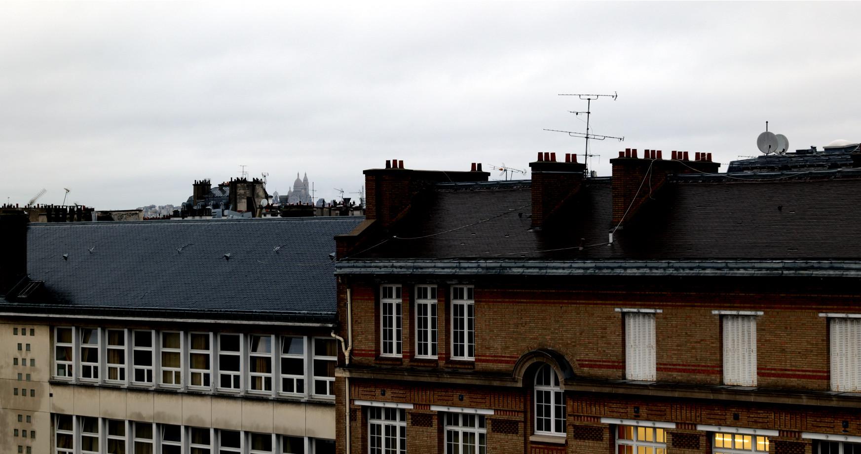 Les toits de Paris depuis la terrasse du CRI (non il y en avait encore une...)