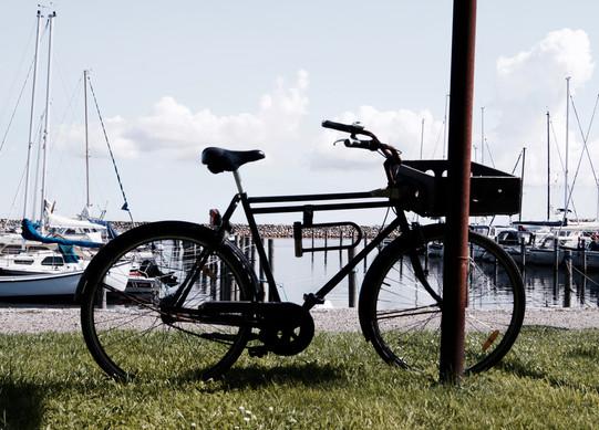 Cykel-silhouette på Ærø
