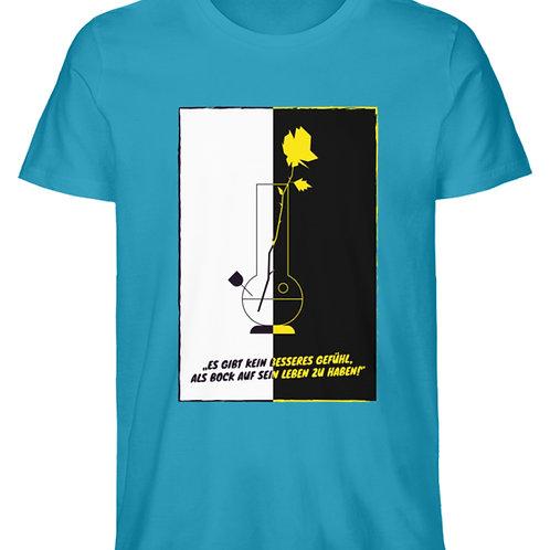 T-Shirt BongRose BlackWhite  - Herren Premium Organic Shirt