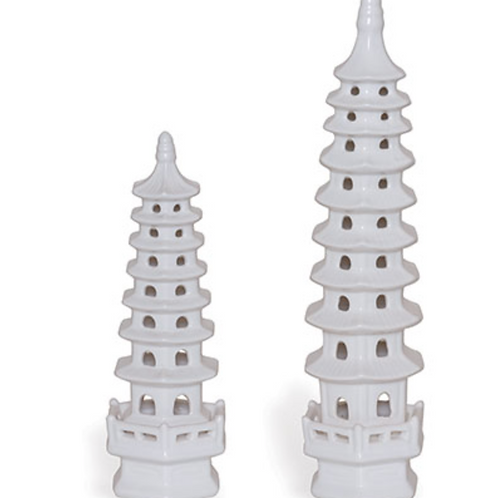 Ceramic Pagoda Pair