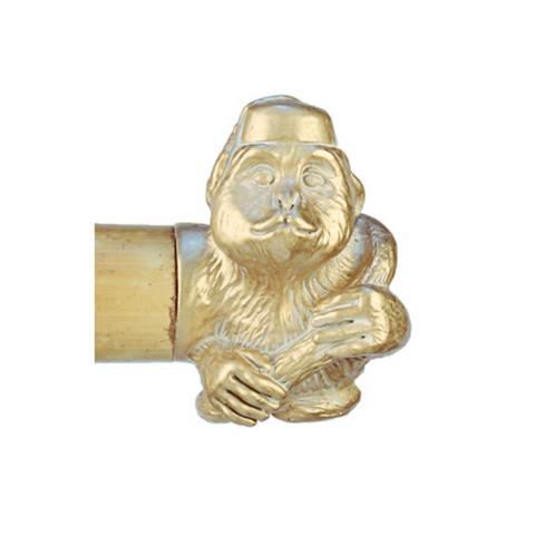 Gold Monkey Drapery Finial- Pair