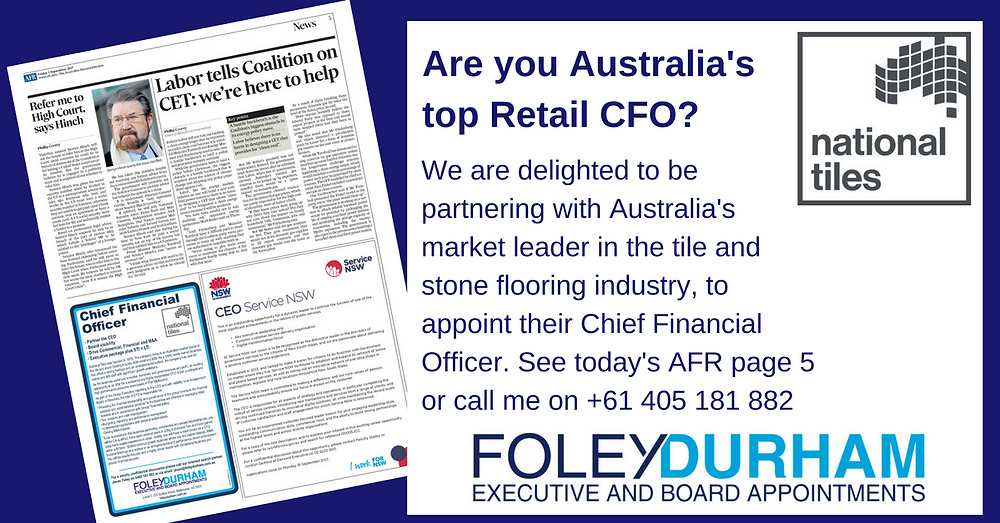 Are you Australia's top Retail CFO