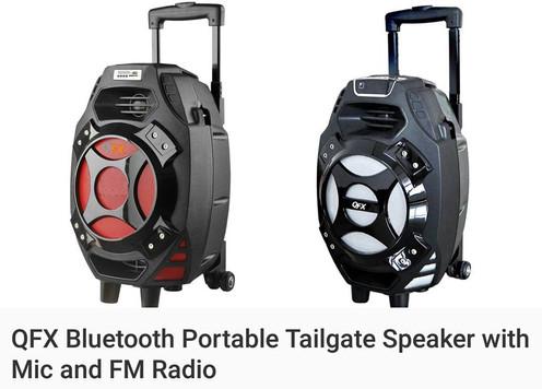 QXF Bluetooth Portable Tailgate Speaker And FM Radio