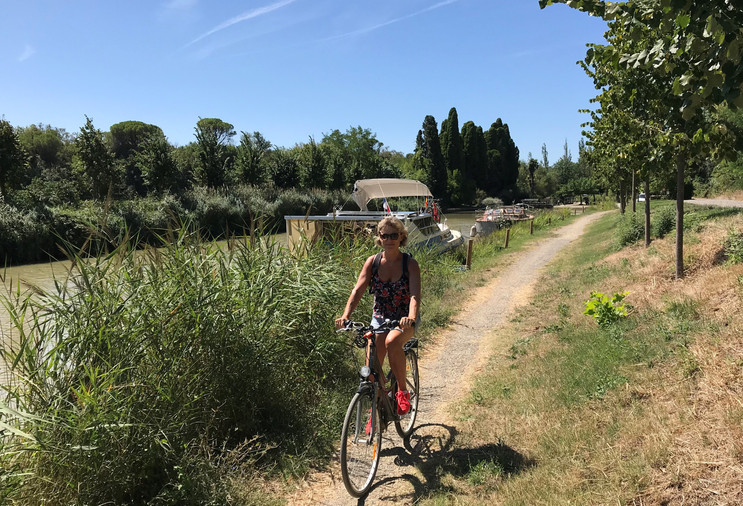 bicycle ride , canal du midi