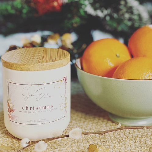 Christmas Candle Jar