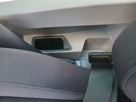 Pockets either side of seat for Keys or