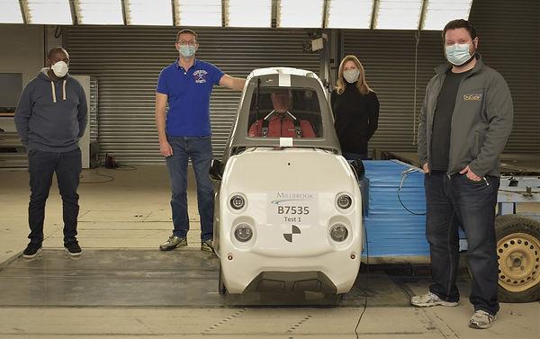 Team at Millbrook for Crash Testing