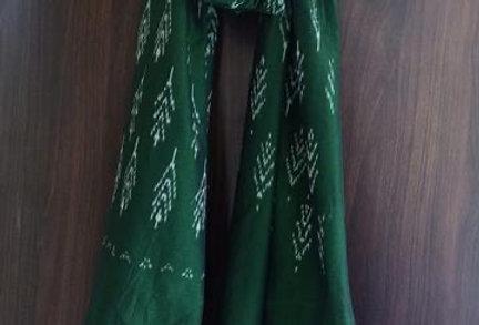 Green Ikat Scarf