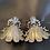 Thumbnail: Trendy Doll earrings-Greyish silver