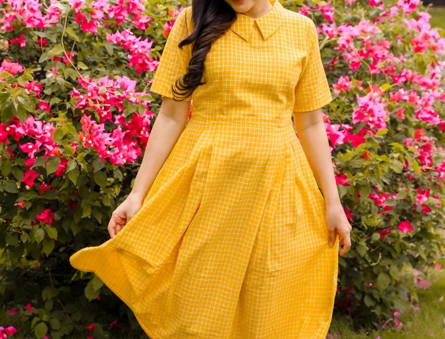Yellow Peter Pan dress