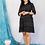 Thumbnail: Black shift ikat dress