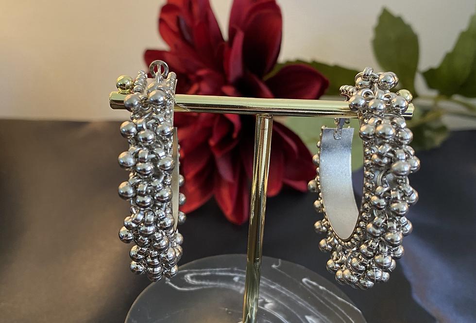 Gungroo earrings- Silver