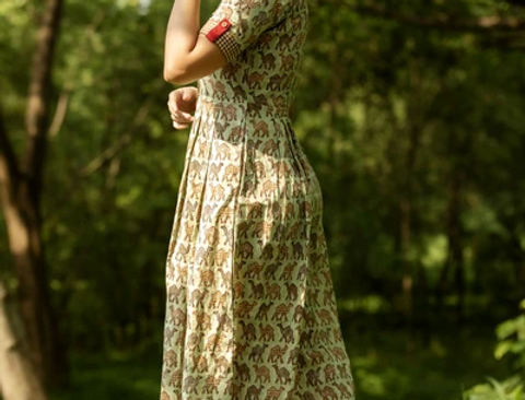 Camel Print Dress