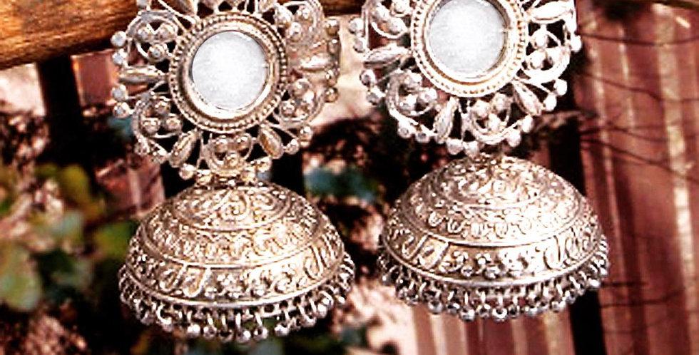 Mirror Jhumkas