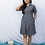 Thumbnail: Grey Ikat dress with pockets
