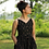 Thumbnail: Black Ikat dress with pockets