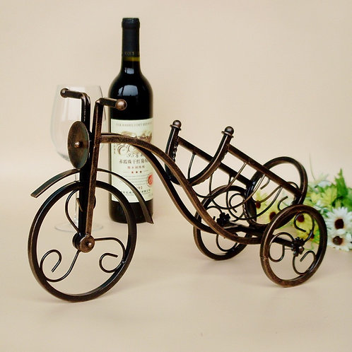 Support pour bouteille de vin en metal Tricycle-shaped vin rouge rack étagère.