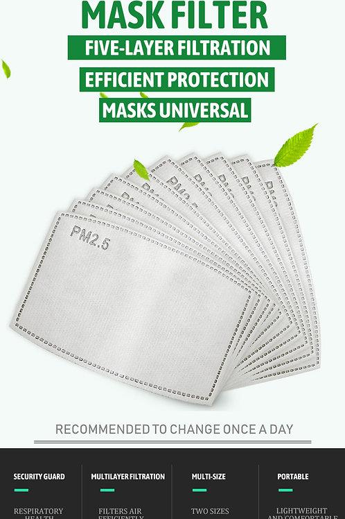 50 pièces/lot PM2.5 papier filtre Anti brume bouche masque Anti poussière.