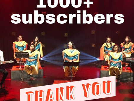 1k subscribers in YouTube