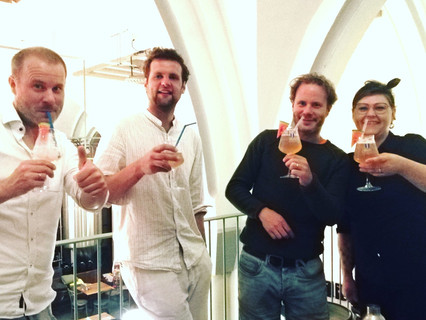 Workshop with our dear partners from Wispe brewery and Anker Jenever