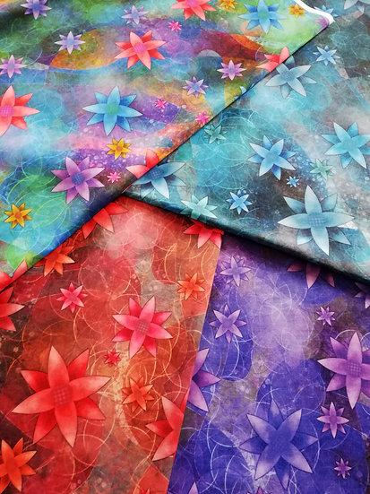 Coupon de tissu Creative Tree Popeline