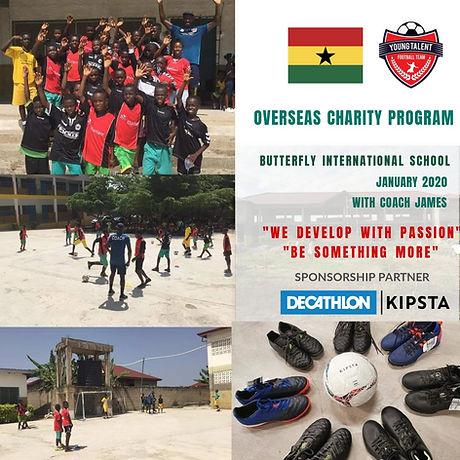 Young Talent Football Team First Overseas Charity Program - Ghana