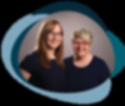 Beate Heinz und Anika Schmitt von TUJA, Ergotherapeutin, Logopädin, Gödenrotj