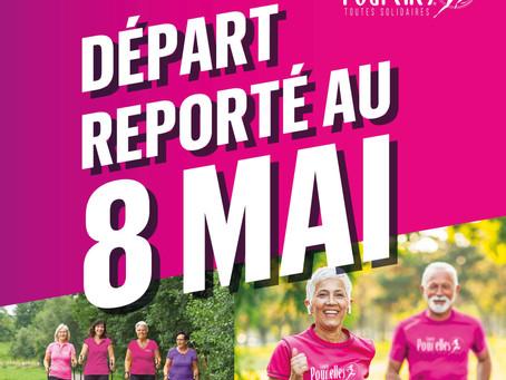 """Report de date : l'édition 2021 de """"Courir pour elles"""" démarre le samedi 8 mai au lieu du 1er mai"""