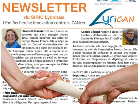 On parle d'Europa Donna dans la newsletter du LYRICAN