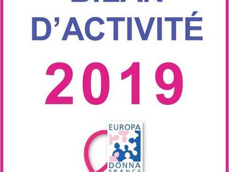 Bilan d'activité 2019 d'Europa Donna Auvergne-Rhône-Alpes