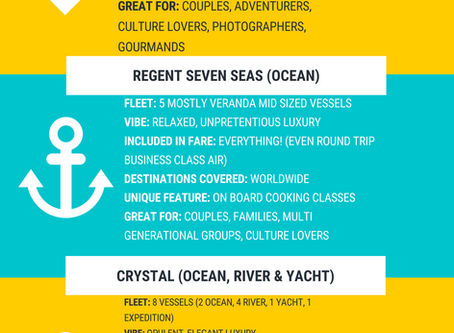 Not sure which luxury cruise line is right for you? Learn all about our favorite lines below!