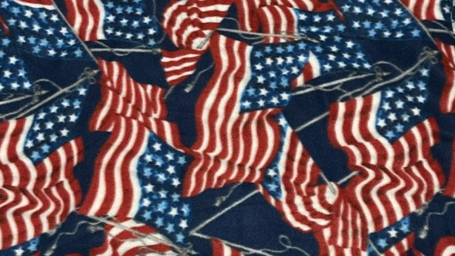 Patriotic One of A Kind No Sew Throw/Blanket!