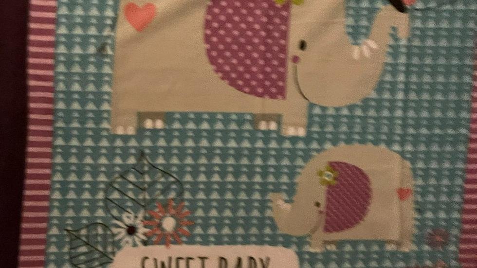 "Baby Blanket! Handmade! ""Sweet Baby"""