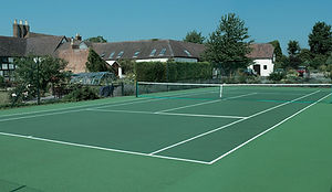 New tennis court in Gloucestershire