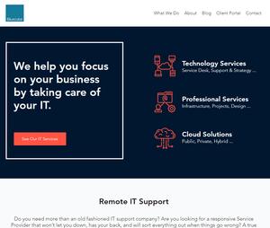 Bluecube Website Homepage