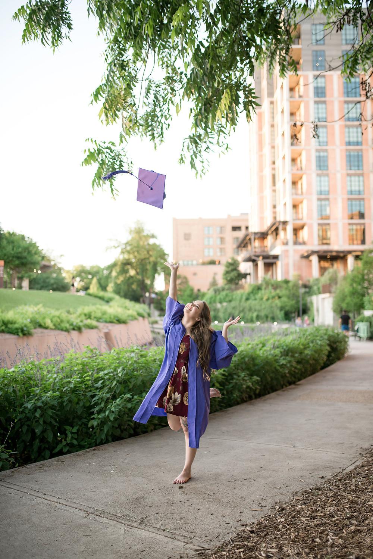 graduate throwing cap