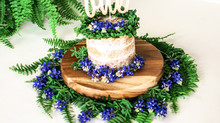 Bluebonnets & Fern | Cake Smash