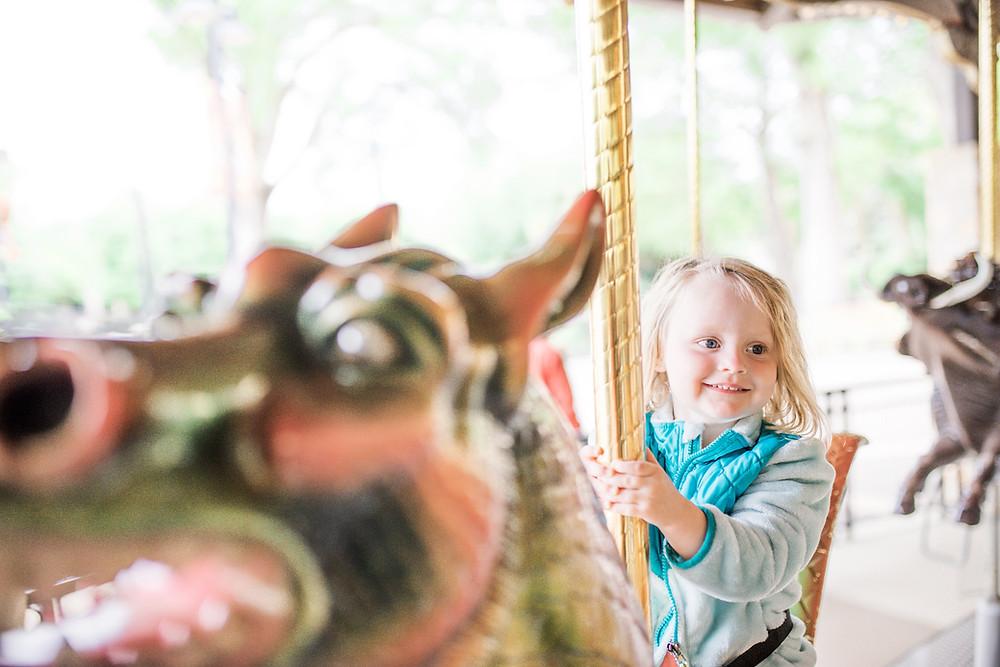 carousel ride toddler