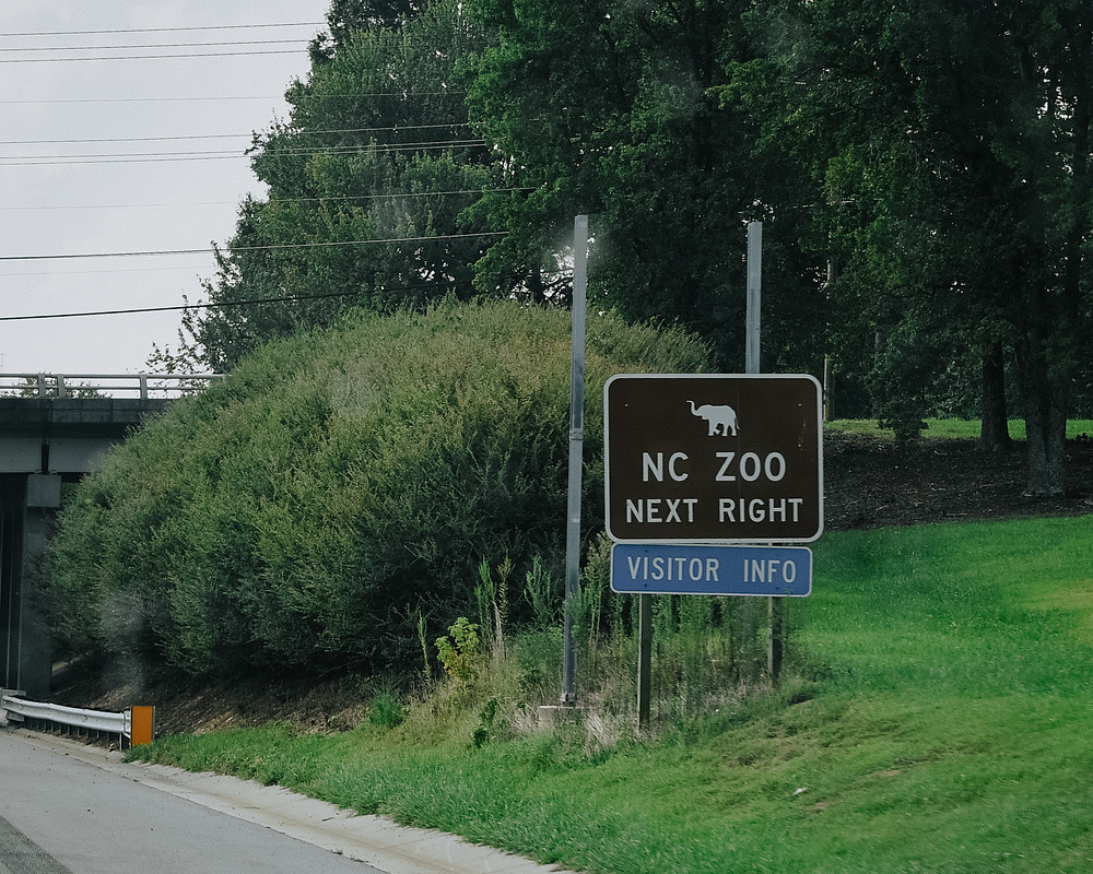 NC zoo sign