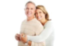 Happy seniors couple in love. Isolated o