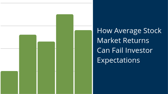 Blog header image of how average stock market returns can fail investor expectations