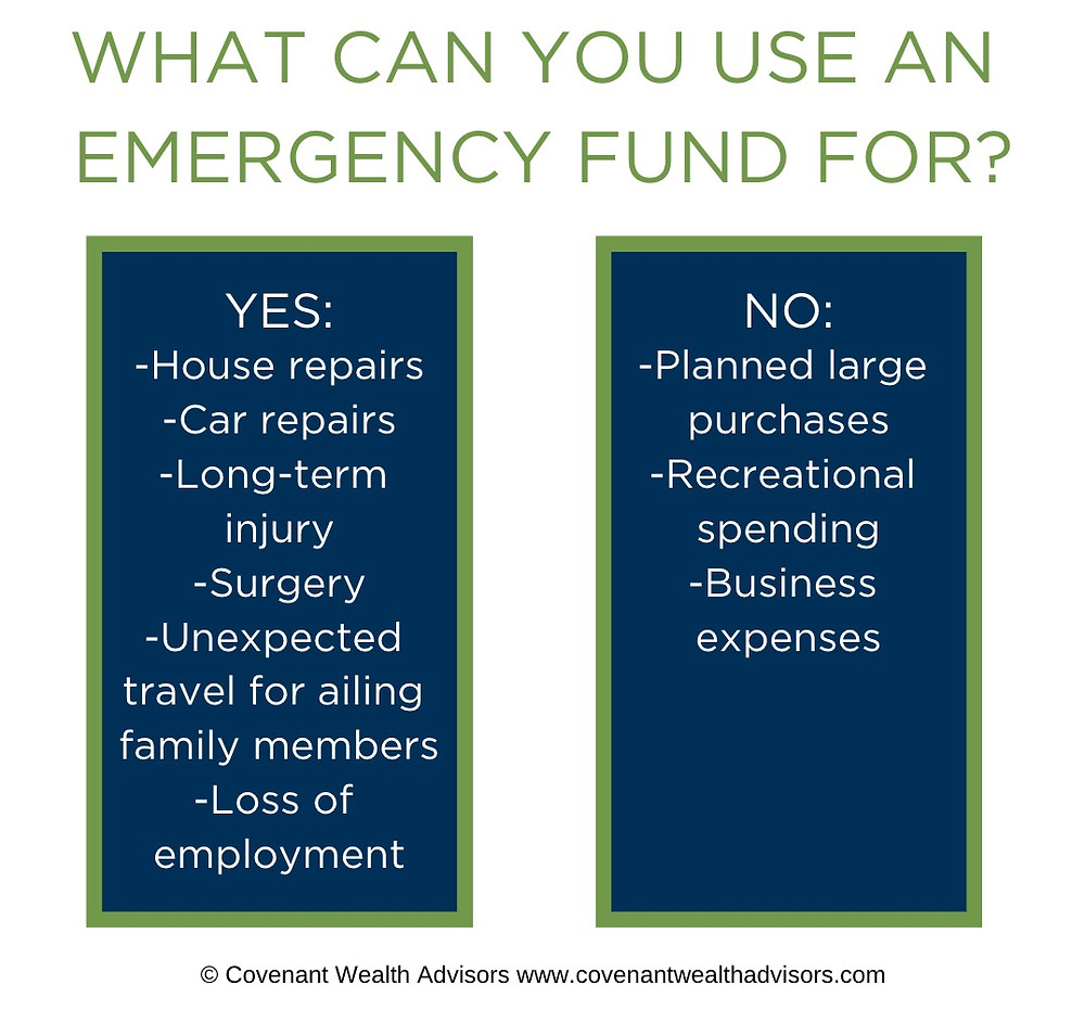 What can you use an emergency fund for?
