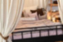 Natur rosé Bettwäsche aus Leinen