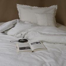 Bettwäsche mit Bogenkante